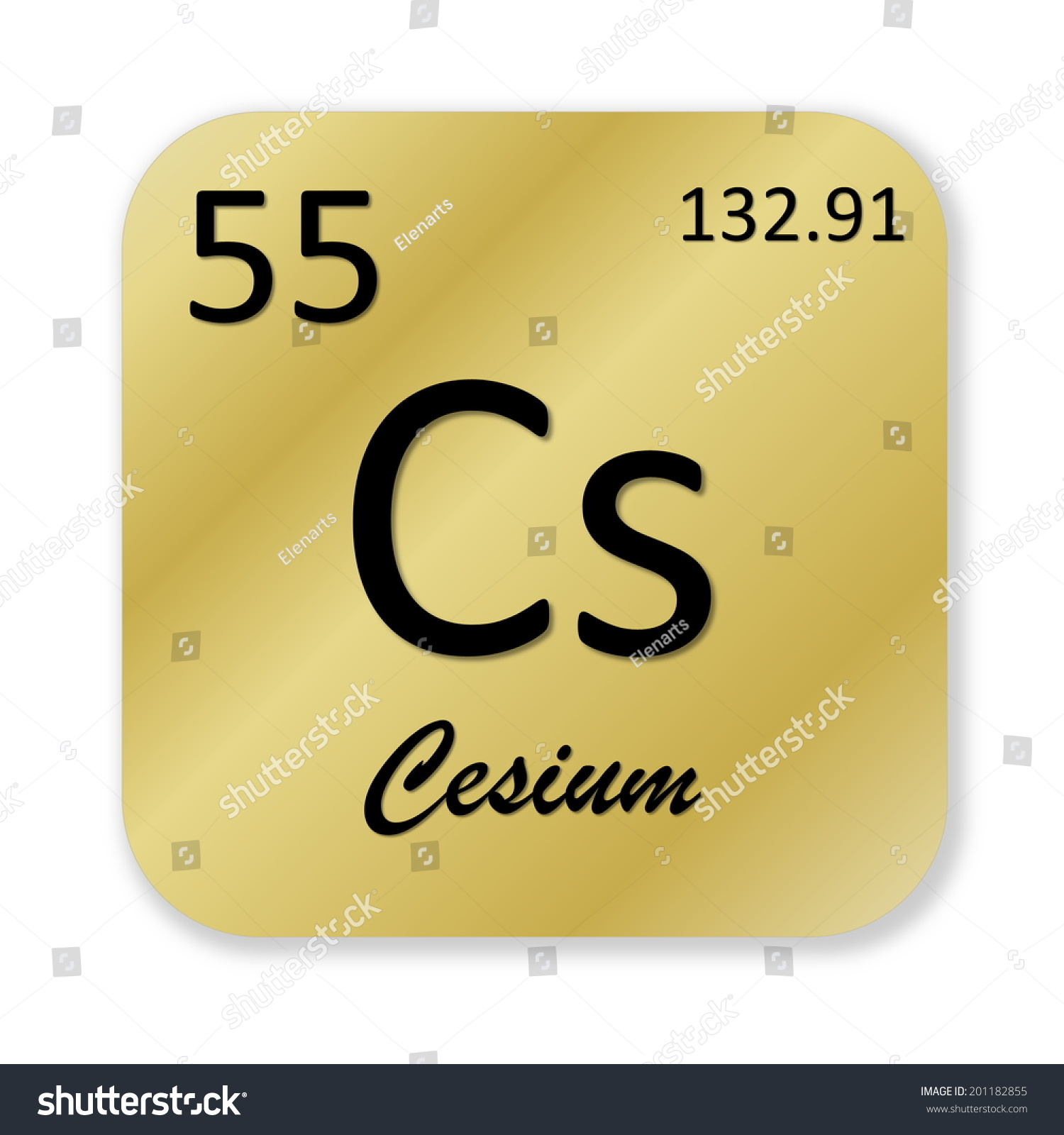 Black cesium element into golden square stock illustration black cesium element into golden square shape isolated in white background gamestrikefo Choice Image