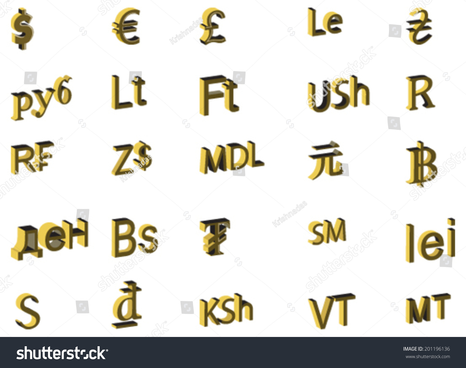 3d Vector Design Concept Currency Symbols Stock Vector Hd Royalty