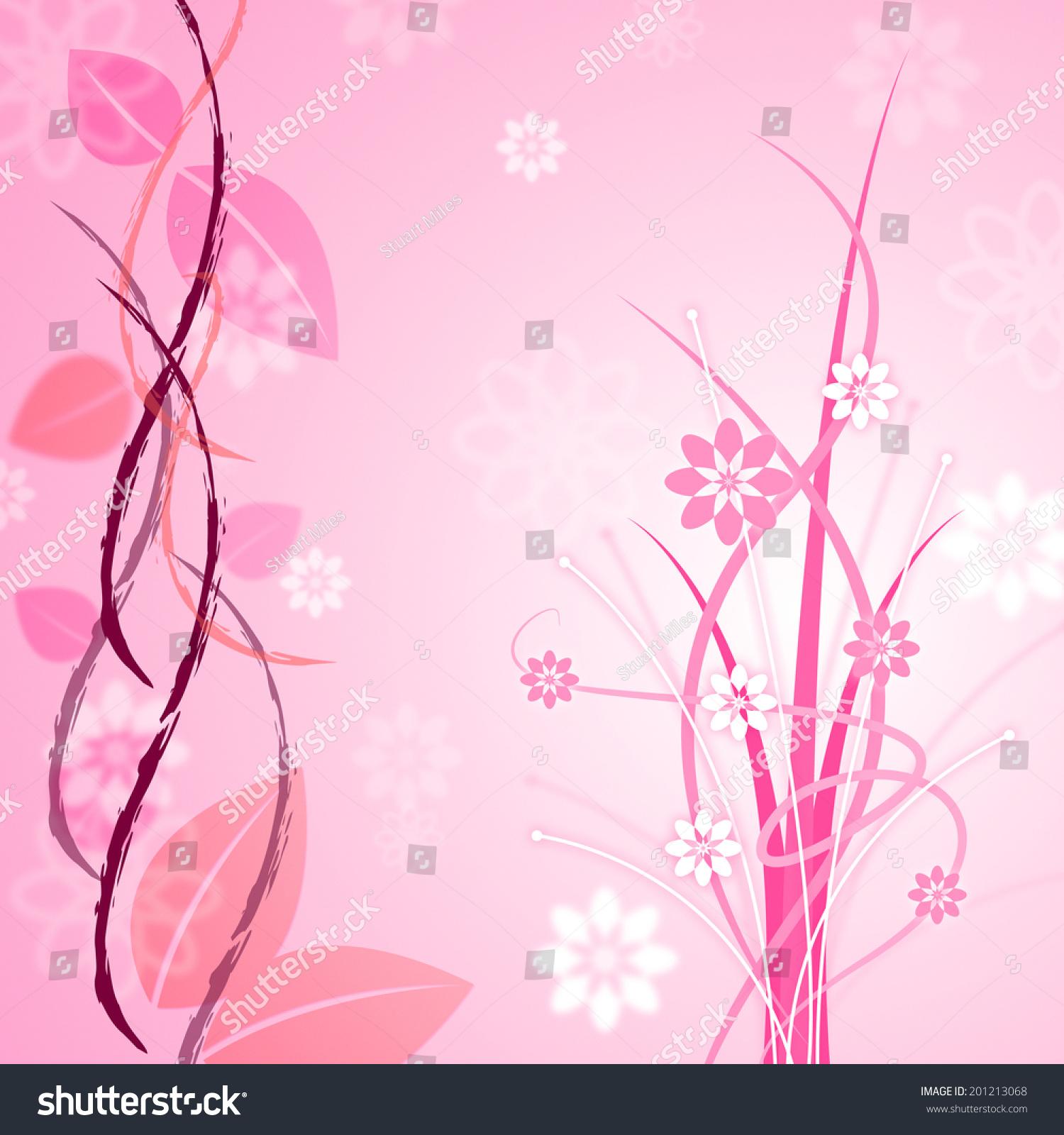 Background Floral Meaning Pink Backdrop Flower Stock Illustration