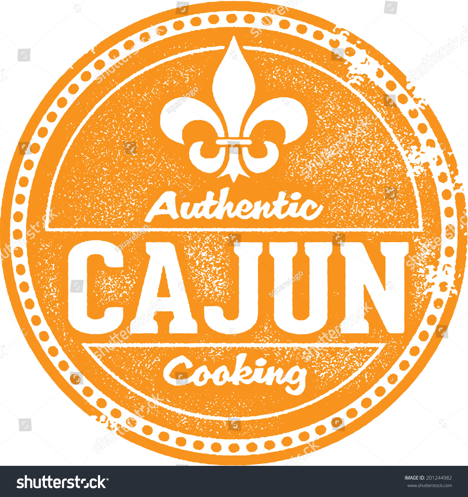 Authentic cajun cooking stamp stock vector 201244982 for Authentic cajun cuisine