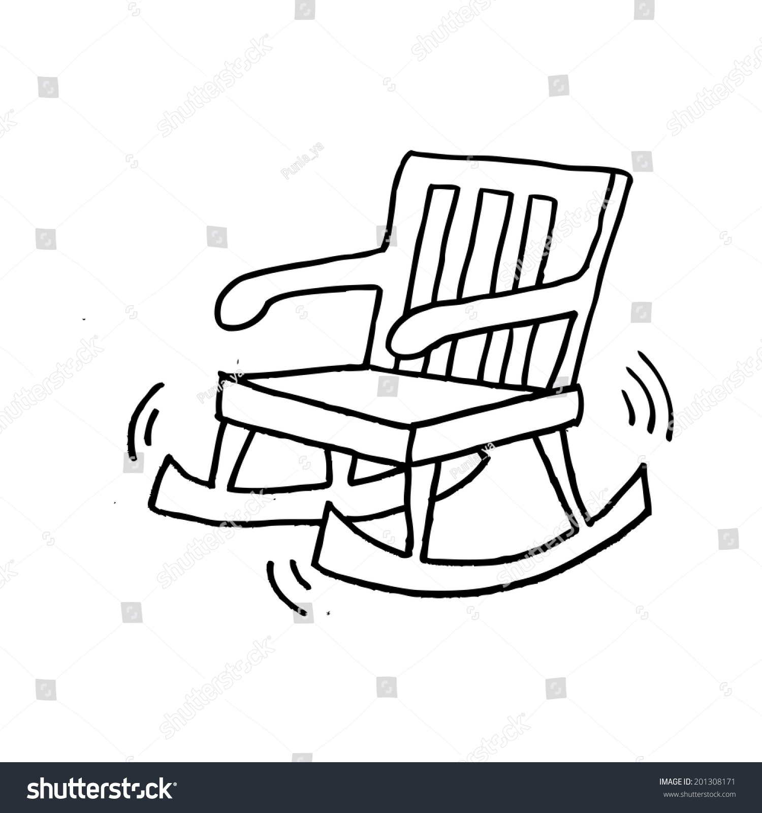 Incredible Rocking Chair Cartoon Stock Illustration 201308171 Machost Co Dining Chair Design Ideas Machostcouk