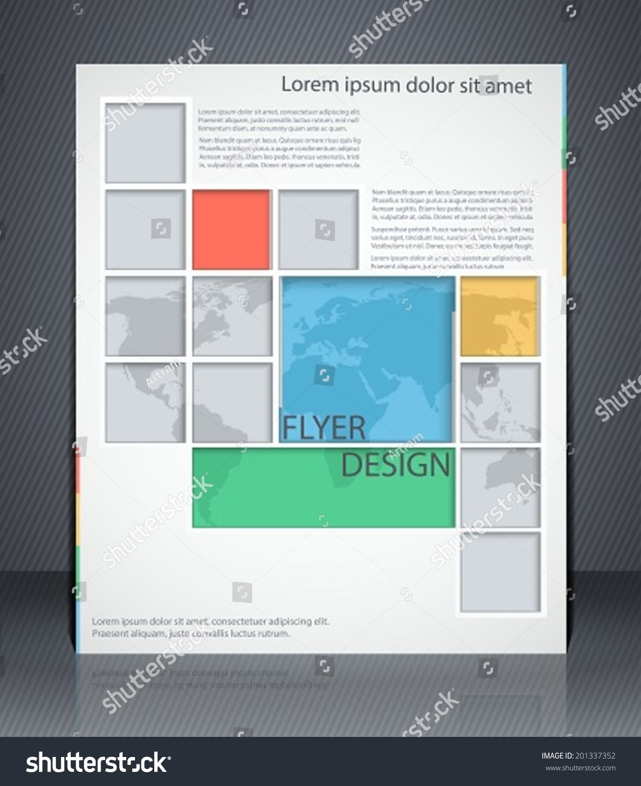 vector layout business flyer map magazine stock vector  vector layout business flyer map magazine cover or corporate geometric design template advertisement