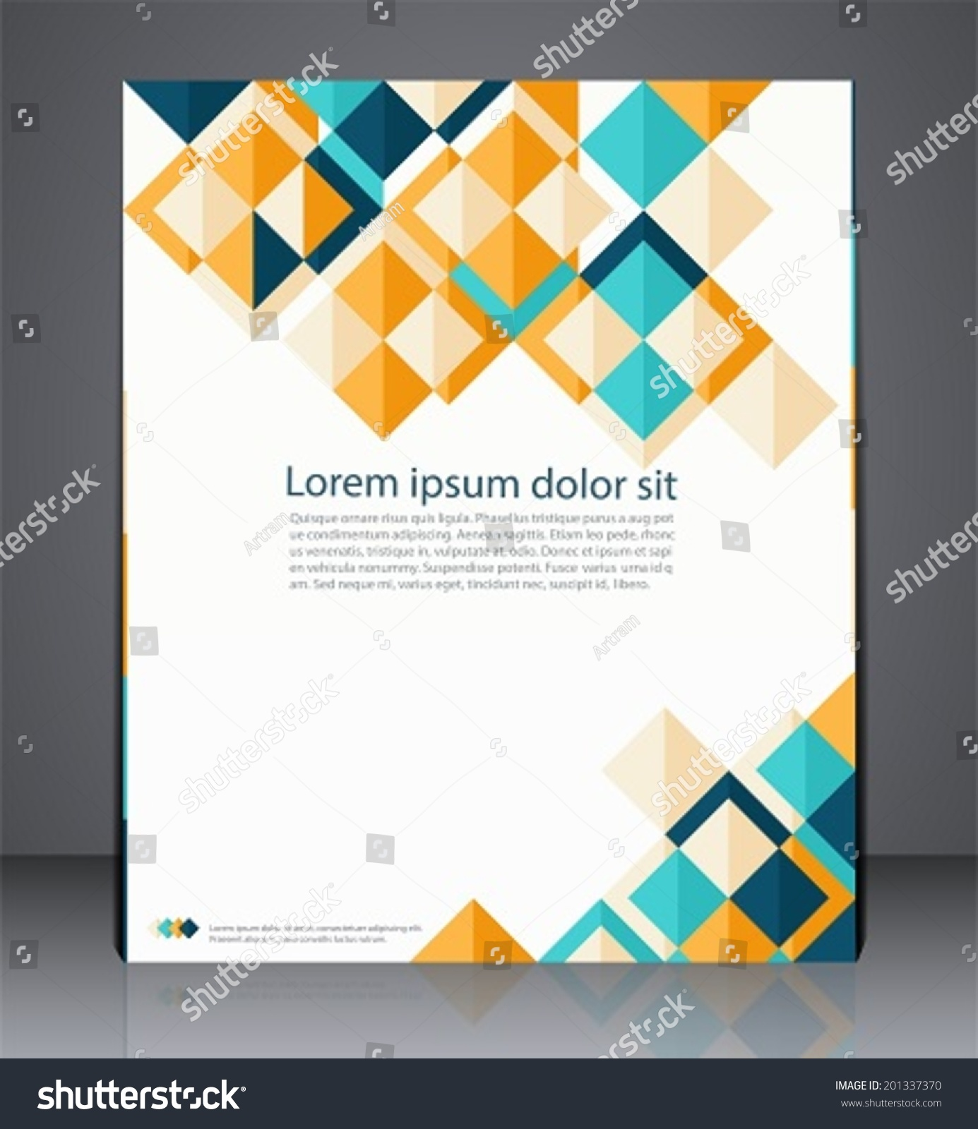 vector layout business flyer magazine cover stock vector  vector layout business flyer magazine cover or corporate geometric design template advertisement