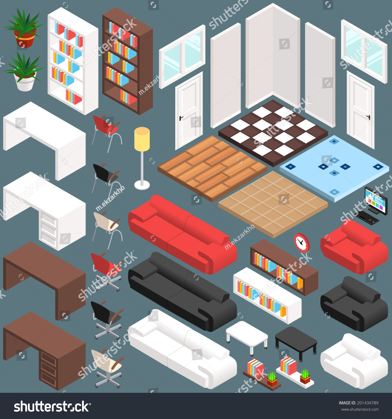 Isometric office planning 3d vector creation stock vector for 3d office planner