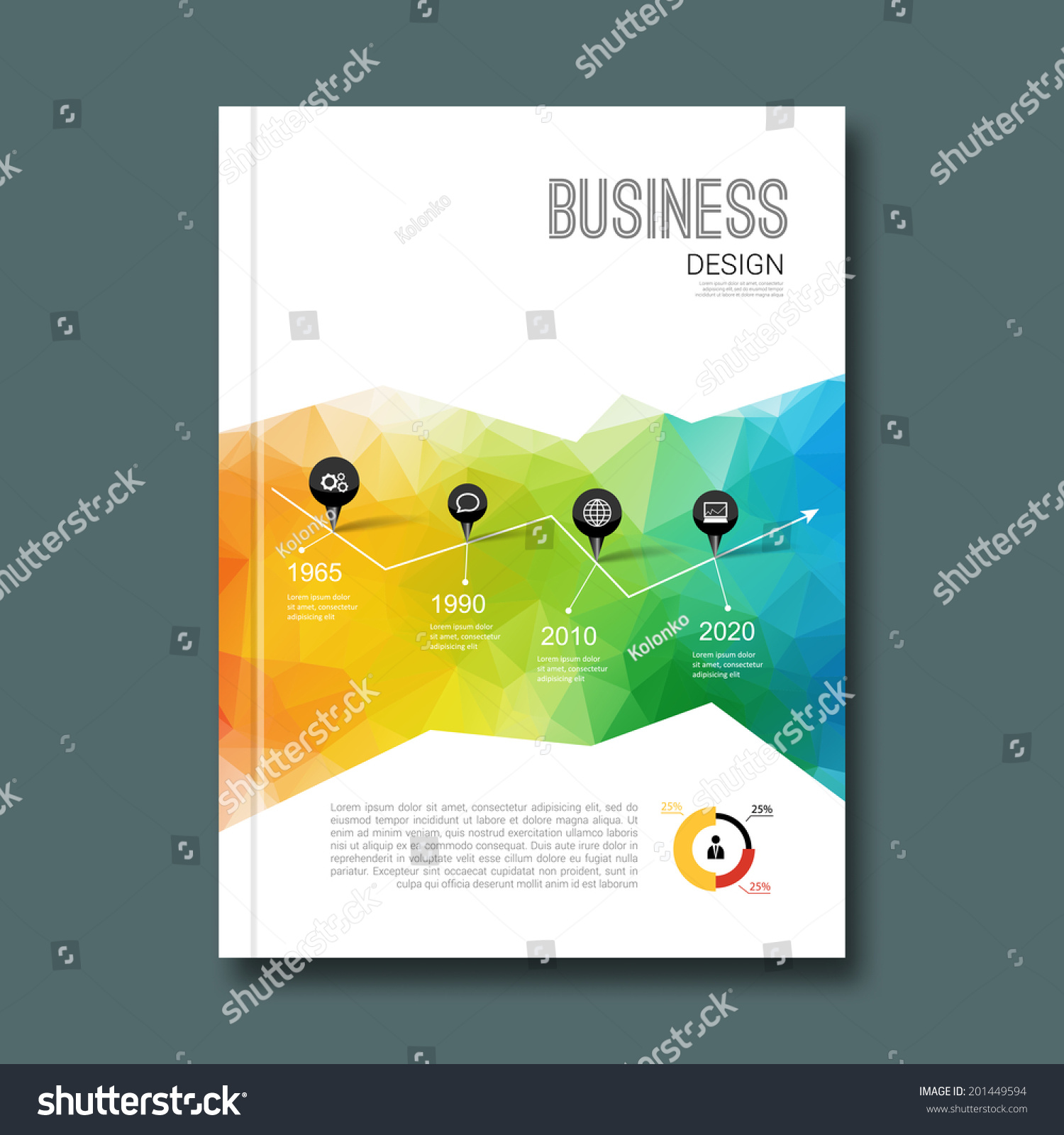 Business Book Cover Design Template : Business design background cover book report stock vector