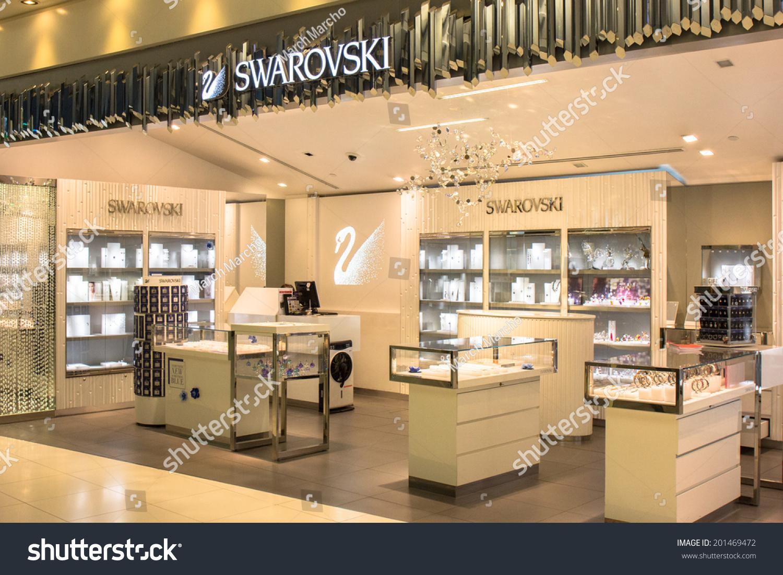 Bangkok June 17 Swarovski Store Suvarnabhumi Stock Photo