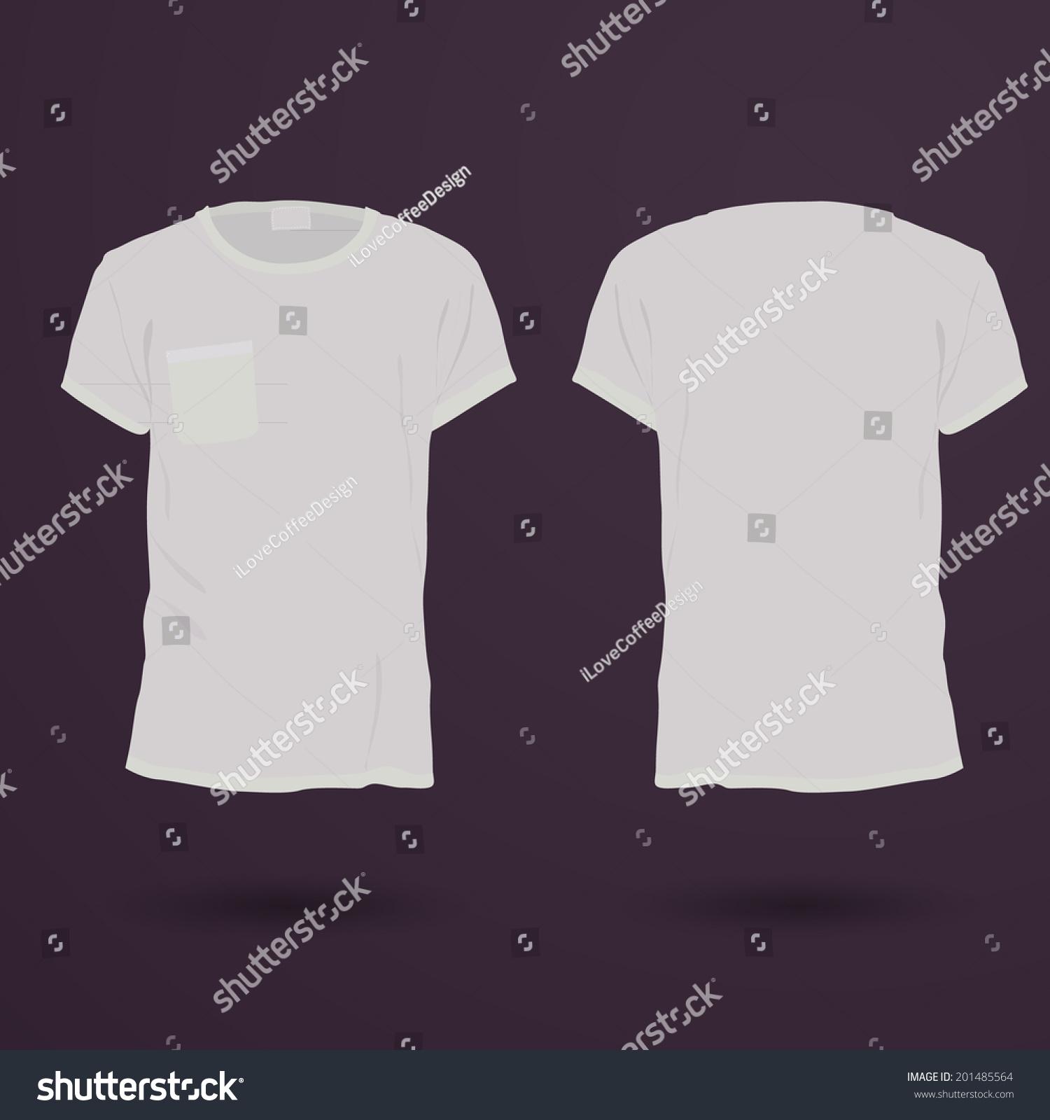 Blank Tshirt Template Front Back Stock Vector 201485564 - Shutterstock