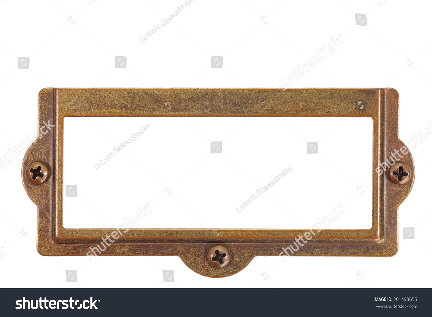 Antique Brass Name Plate Stock Photo 201493655 Shutterstock