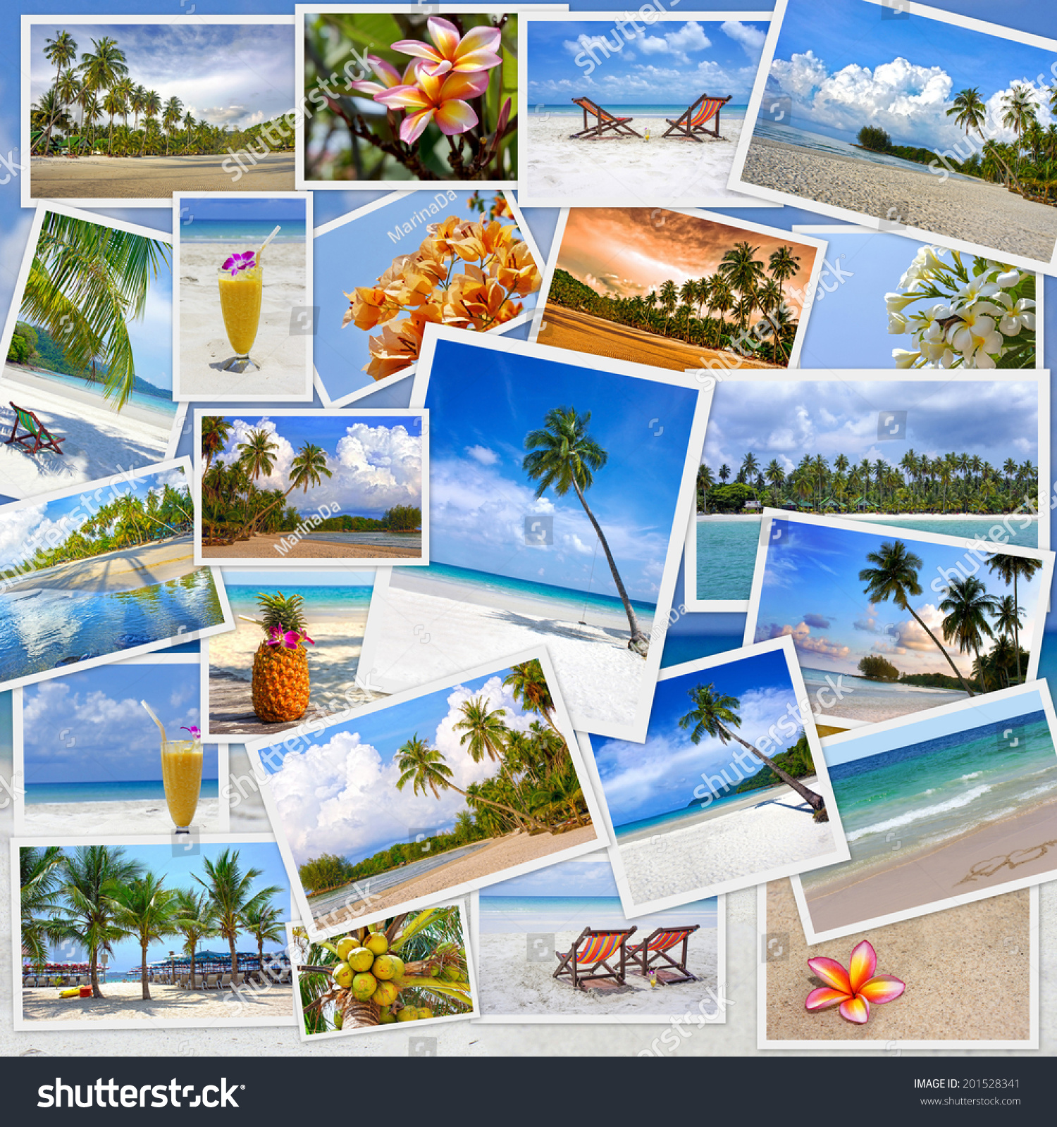 Stack Of Travel Images From Thailand My Photos Collage Summer Tropical Beach