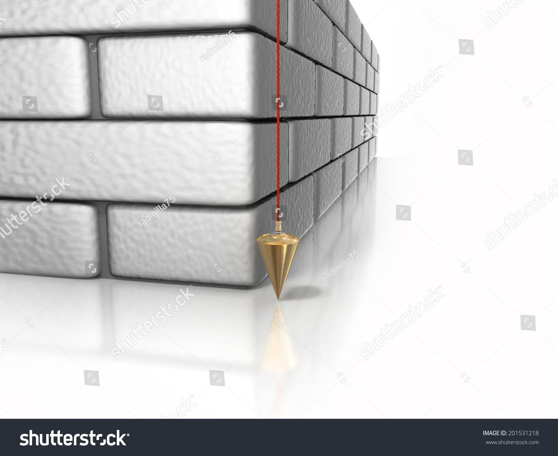 Brick Wall Plumb Line Stockillustration 201531218 Shutterstock