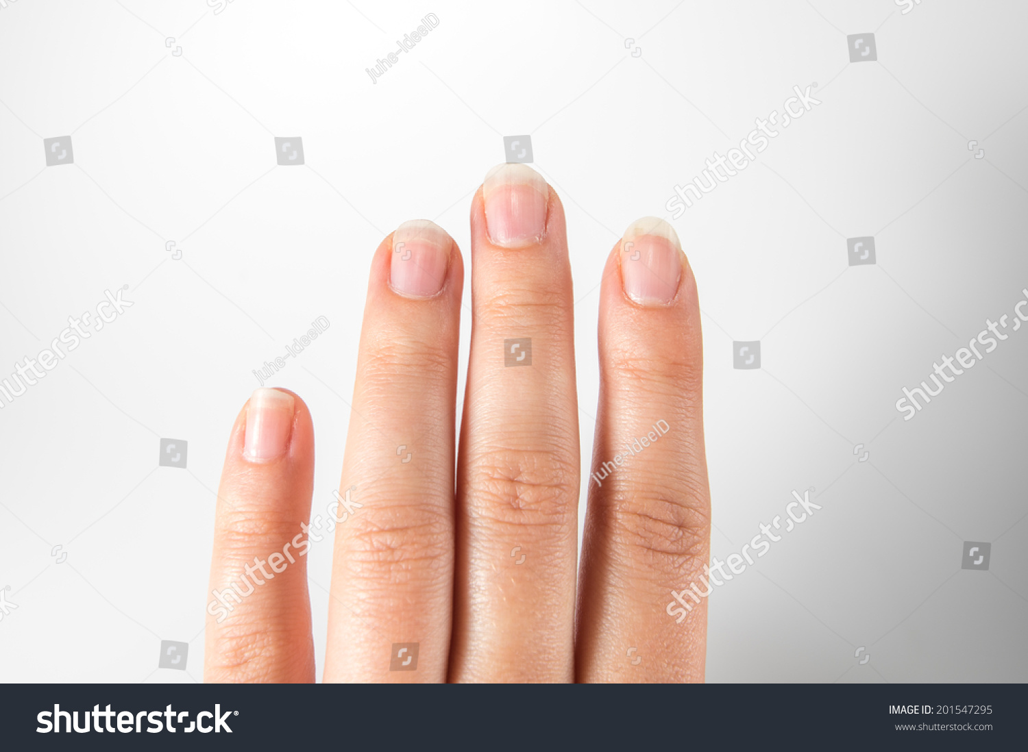 Natural Nails Unvarnished Long Fingers Stock Photo (Download Now ...
