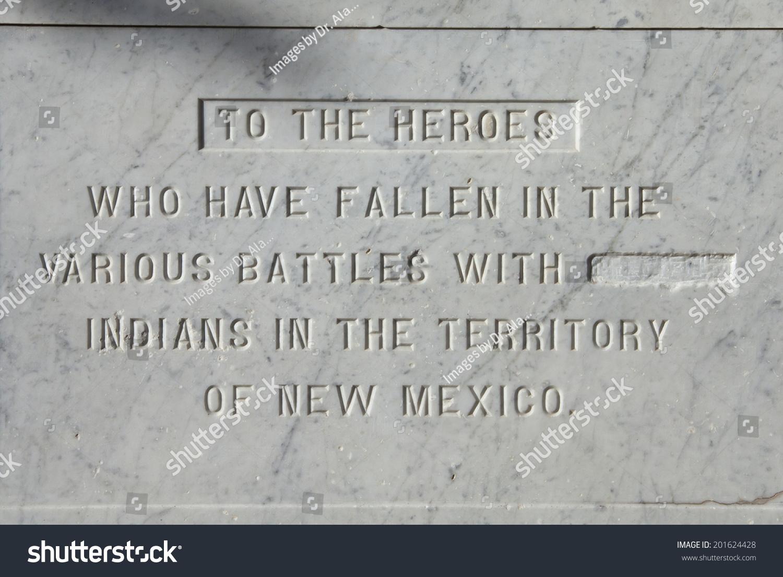 Inscription On Monument On Plaza Santa Stock Photo Edit Now 201624428