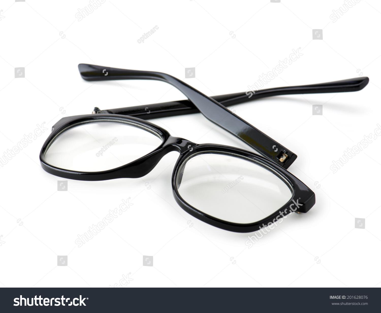 Broken Eye Glasses Isolated On White Stock Photo (Royalty Free ...