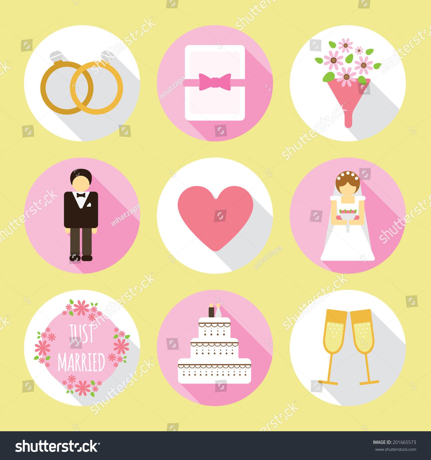 Circle Wedding Flat Icon Stock Illustration 201665573 - Shutterstock