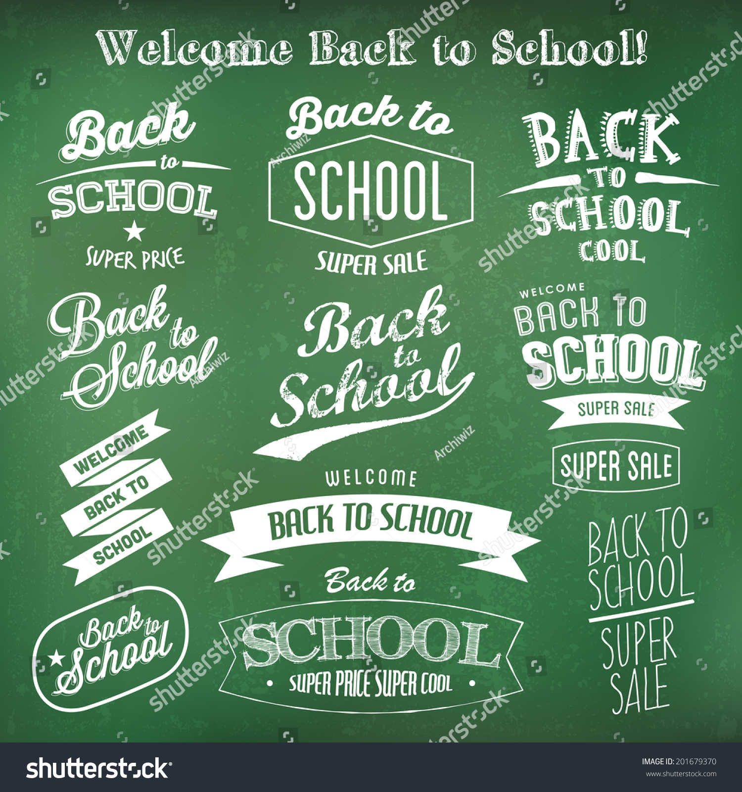 back school label design templates retro stock vector royalty free