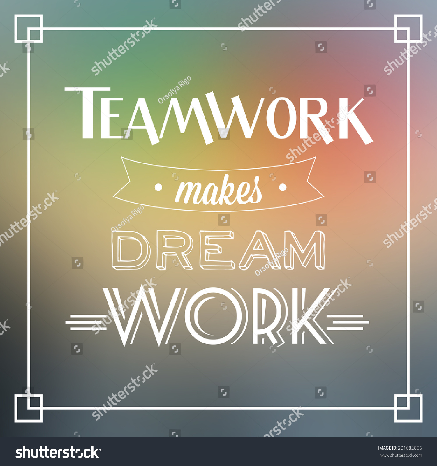 Motivational Quotes For Sports Teams: Teamwork Makes Dream Work Quote Typographic Stock Vector