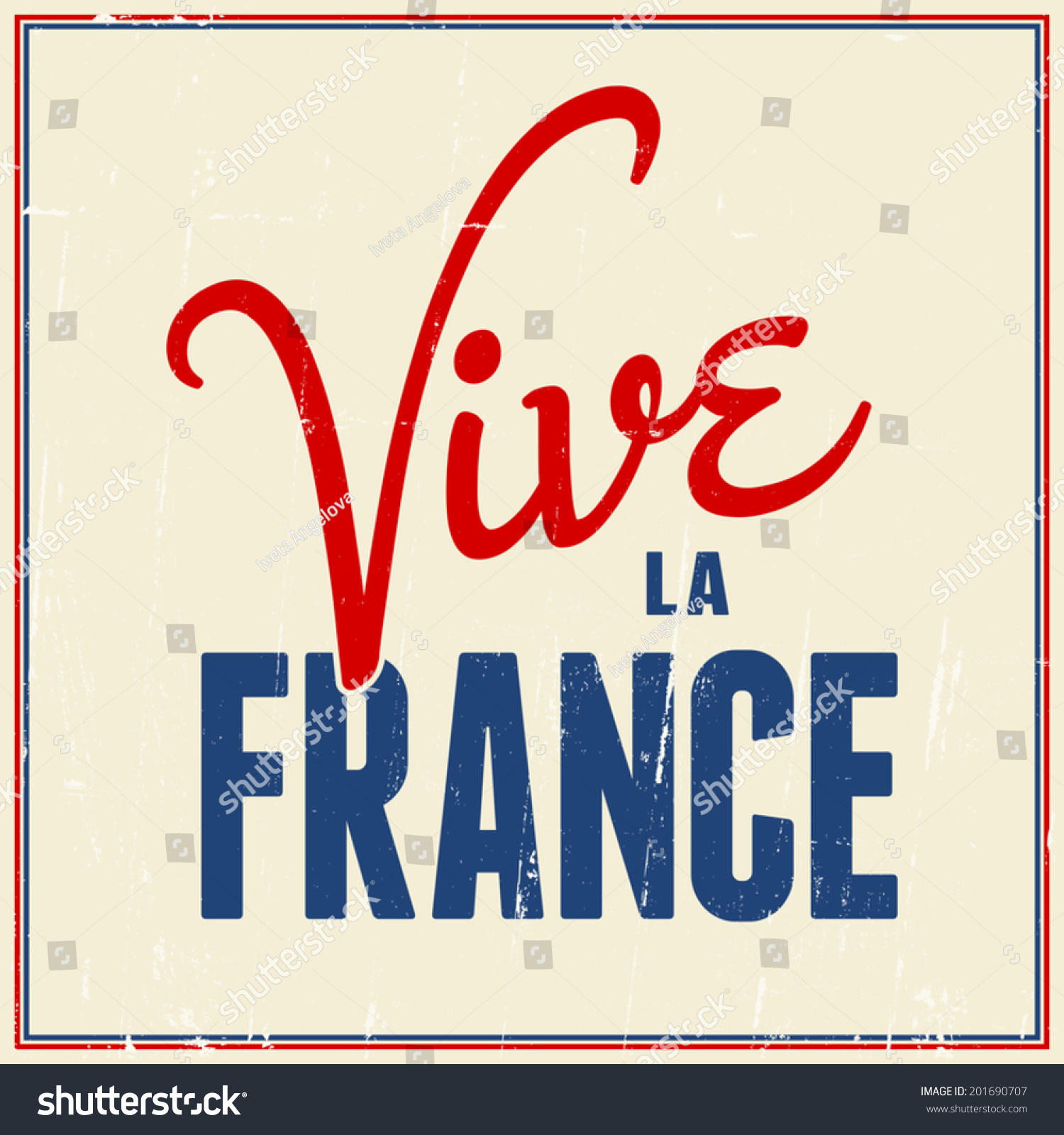 Text Design Greeting Card French National Stock Photo Photo Vector