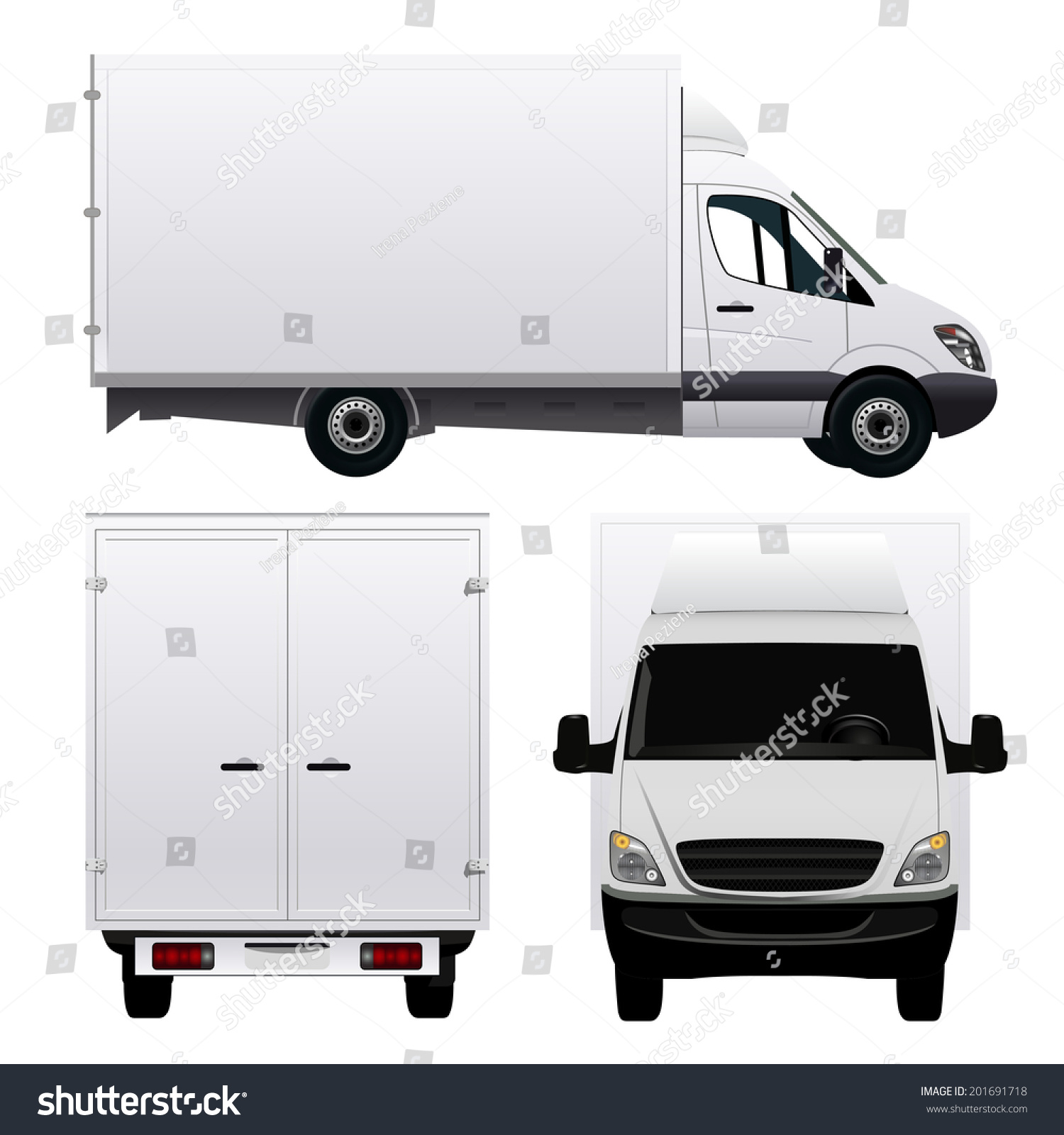Delivery Van Stock Vector 201691718 : Shutterstock