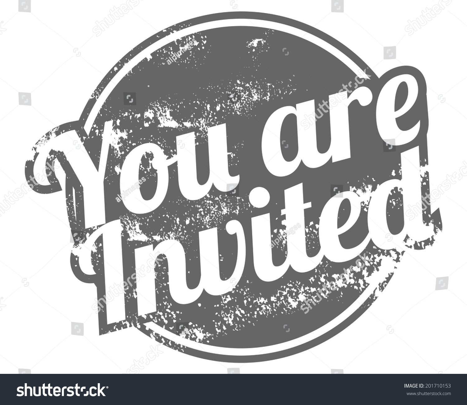 You Invited Rubber Stamp Stock Vector 201710153