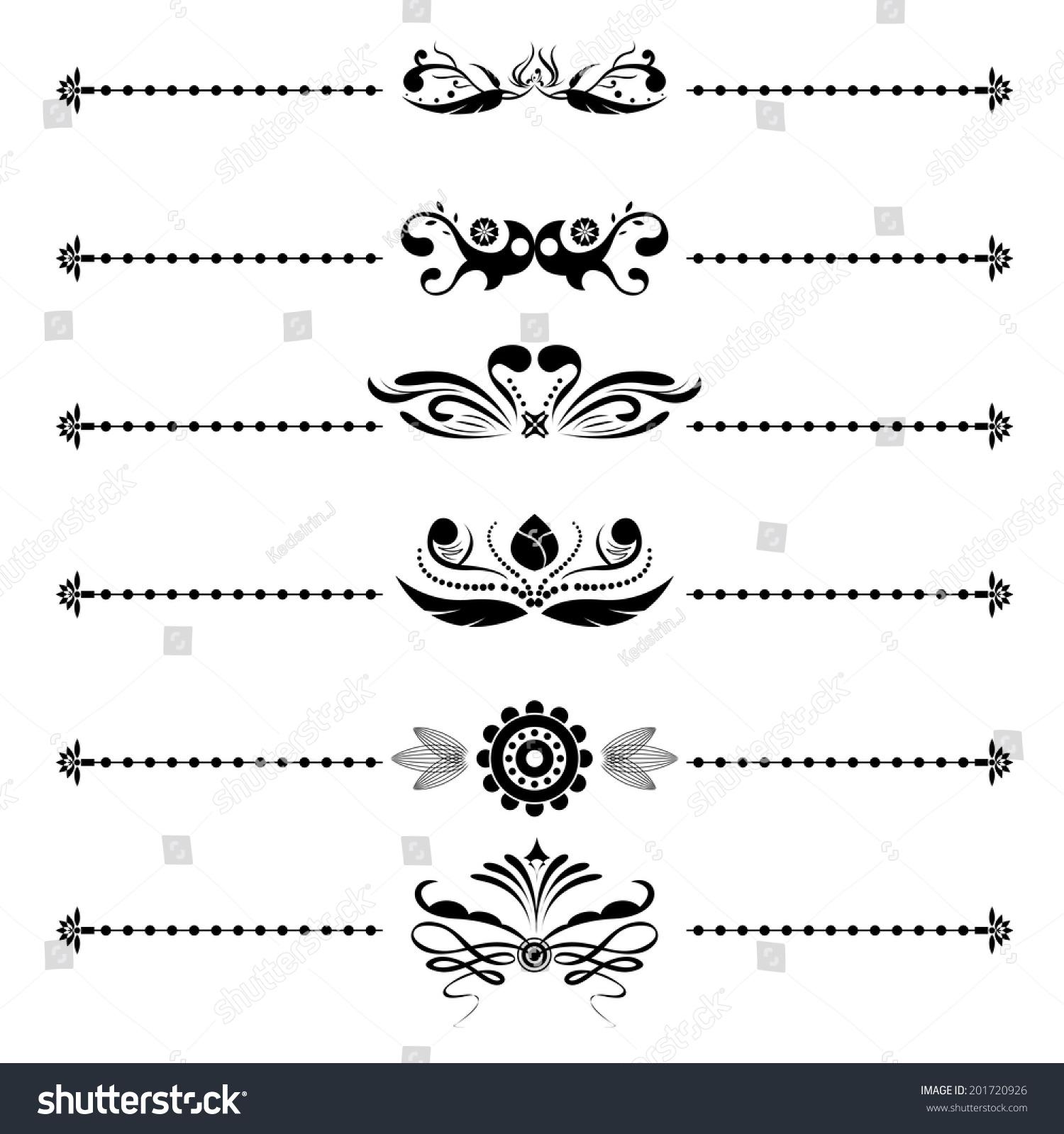 Calligraphic Vintage Floral Vector Designs Wedding Stock Vector ...