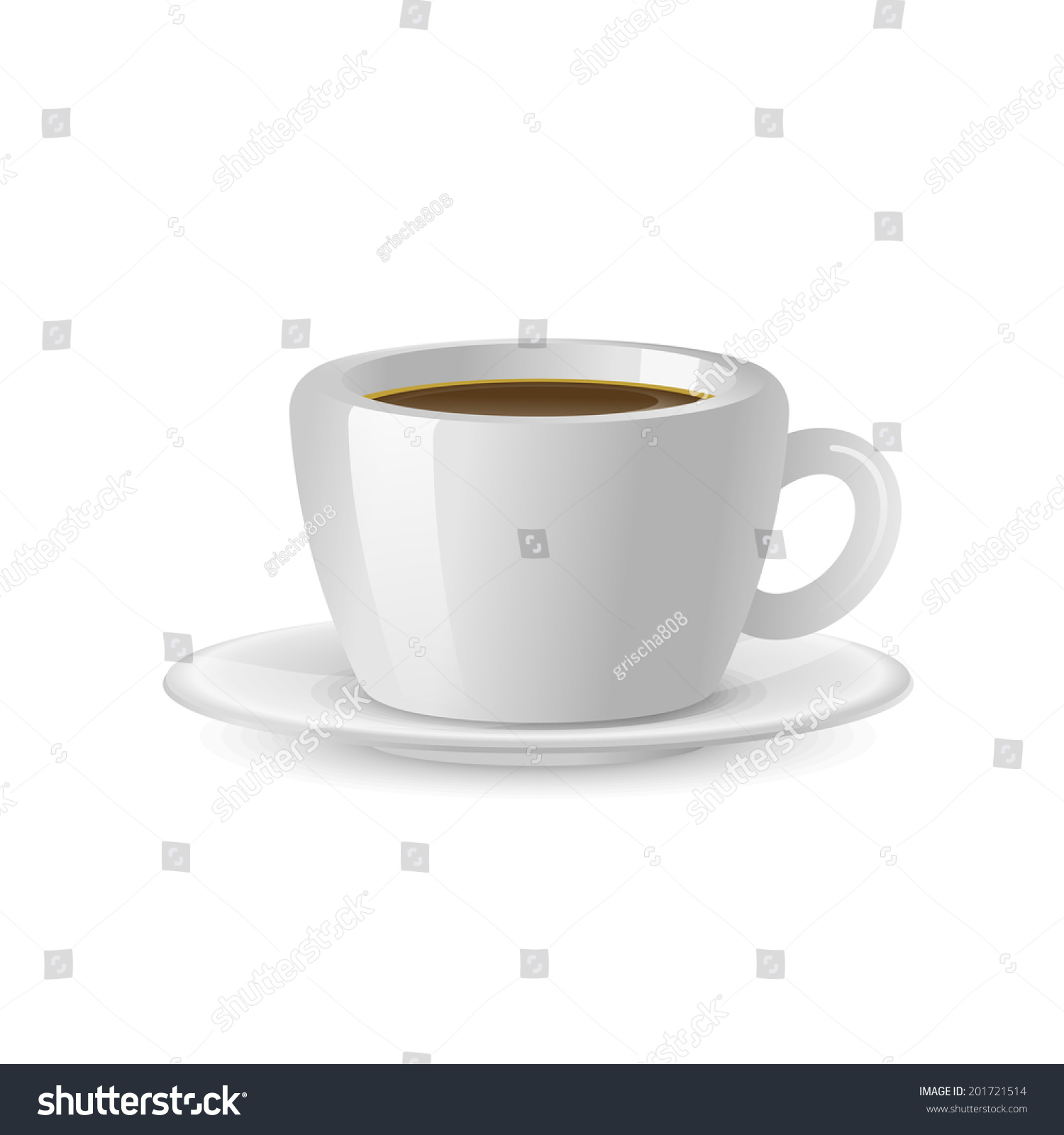 Coffee cup transparent - Vector Coffee Cup Isolated On A Transparent Background