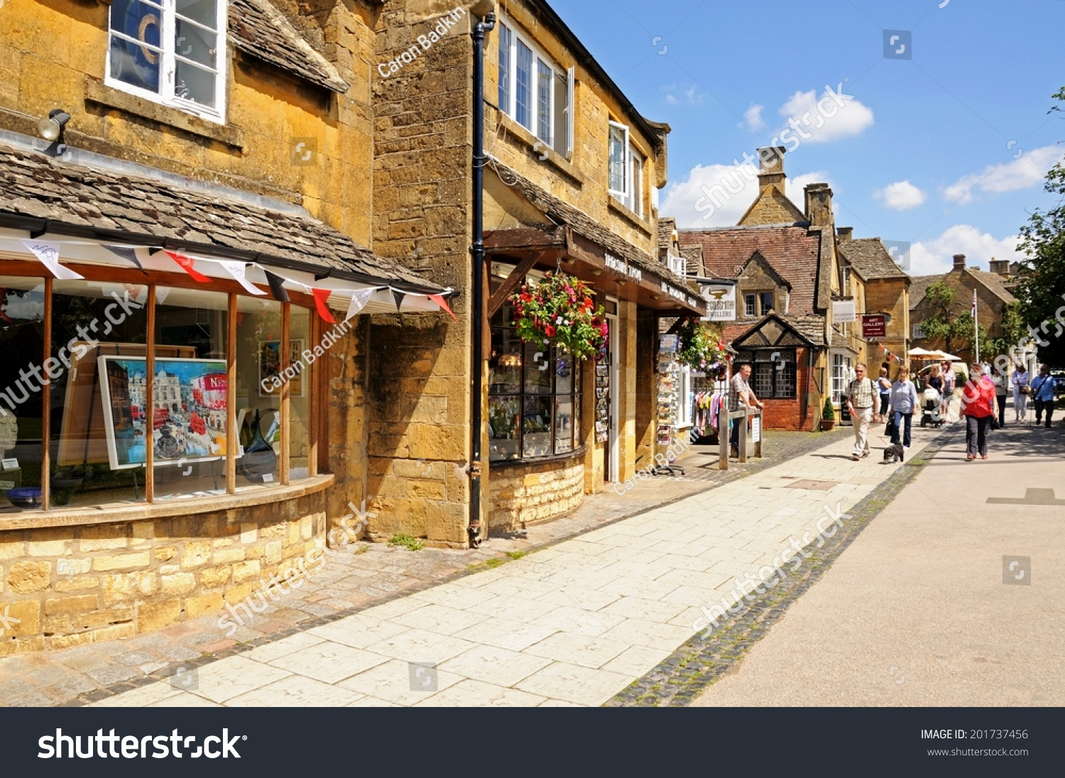 Broadway United Kingdom  city pictures gallery : BROADWAY, UNITED KINGDOM JUNE 12, 2014 Tourist shops along the ...