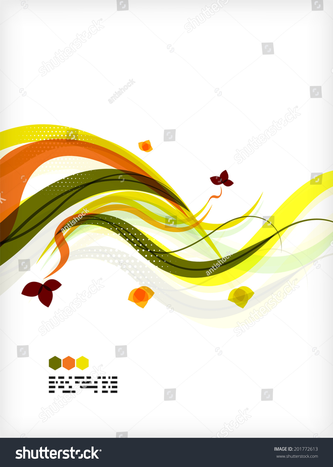 Colorful Floral Design Templates Copy Space Stock Illustration ...