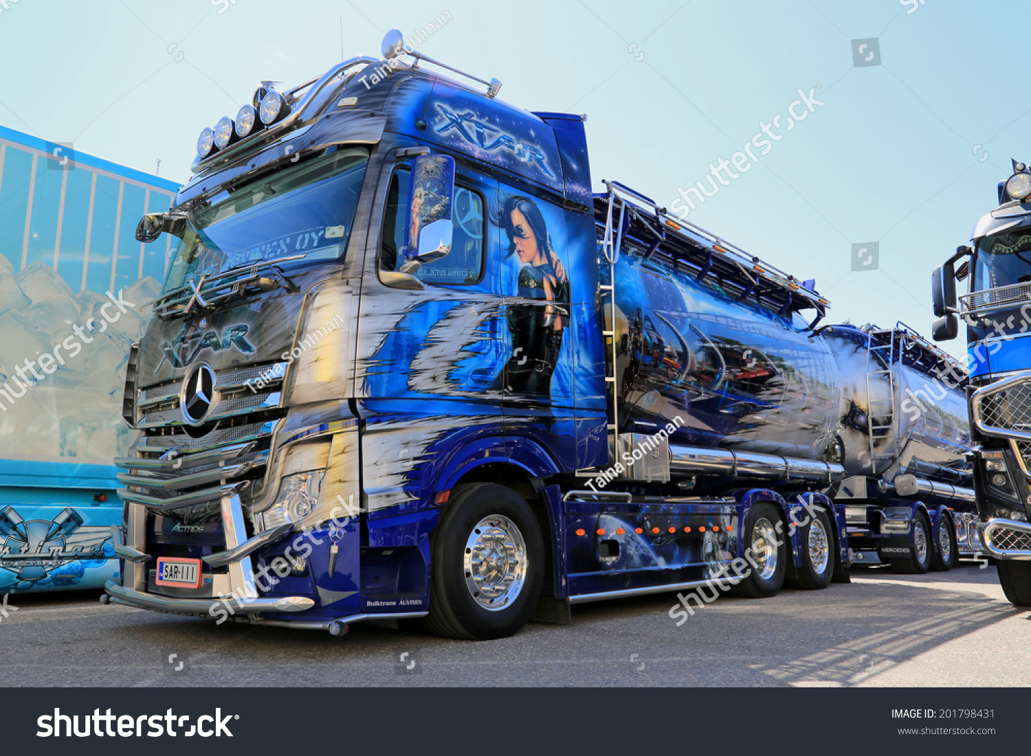 Porvoo finland june 28 2014 mercedesbenz stock photo for 2014 mercedes benz truck