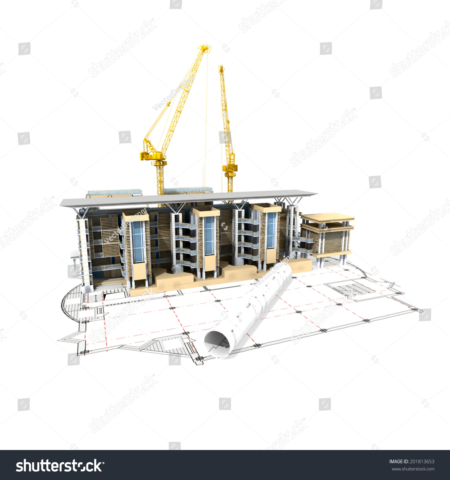3d plan drawing stock photo 201813653 shutterstock for 3d plan drawing