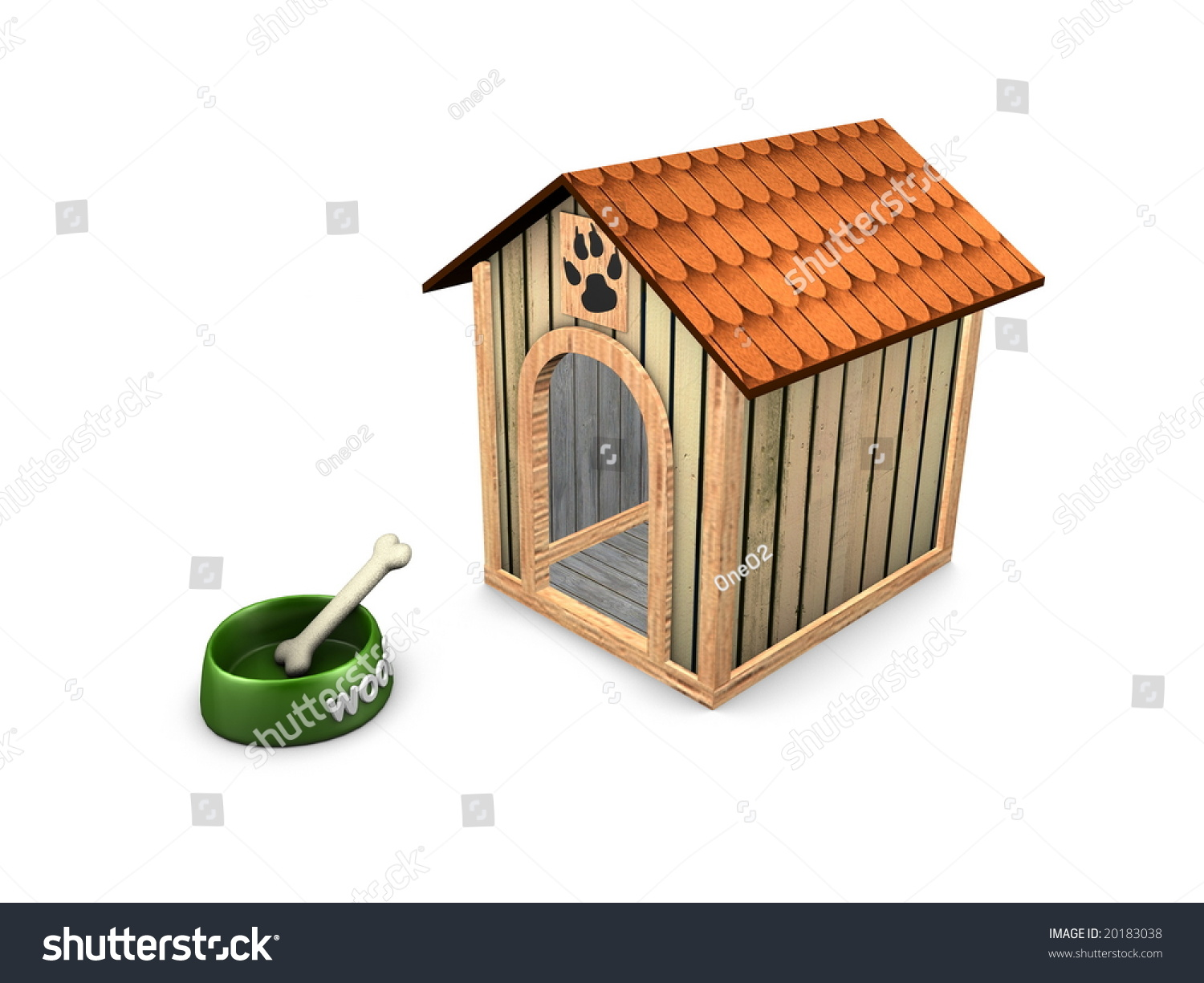 3d image empty dog house stock photo 20183038 shutterstock for Building a dog kennel business