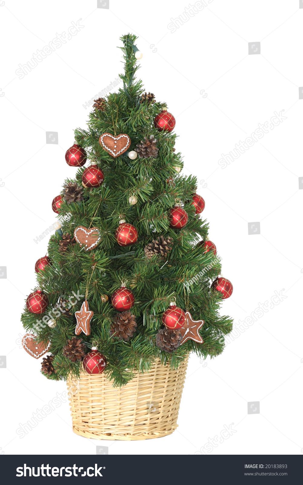 Pretty Decorated Christmas Tree Stock Photo 20183893