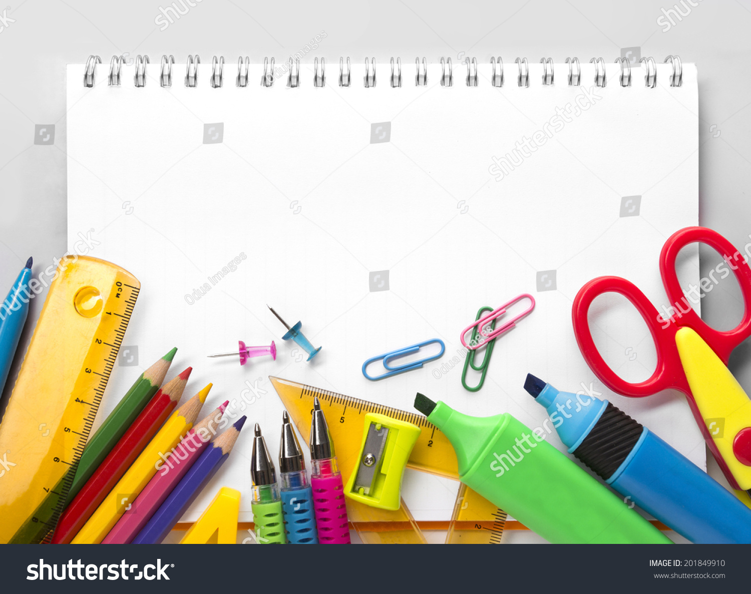Px Colourbox also Stock Photo School Supplies On White Background Ready For Your Design moreover Blue Rilakkuma Bear Alphabet Notepad Exercise Book together with Cute Mouse Notepad With French Theme From Japan moreover Teachernotes Thumb. on back to school notepad supplies