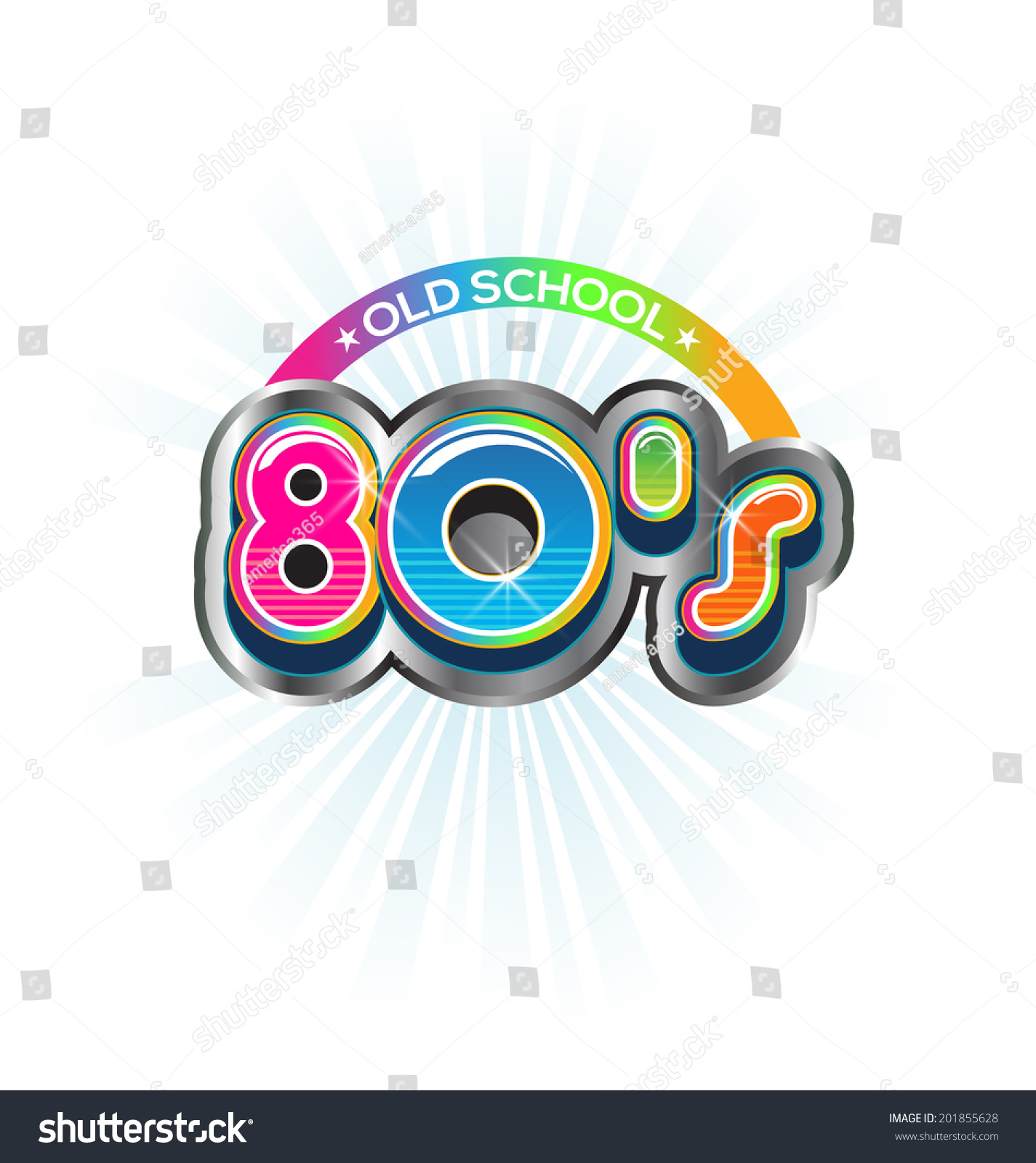old school 80s vintage logo vector stock vector 201855628