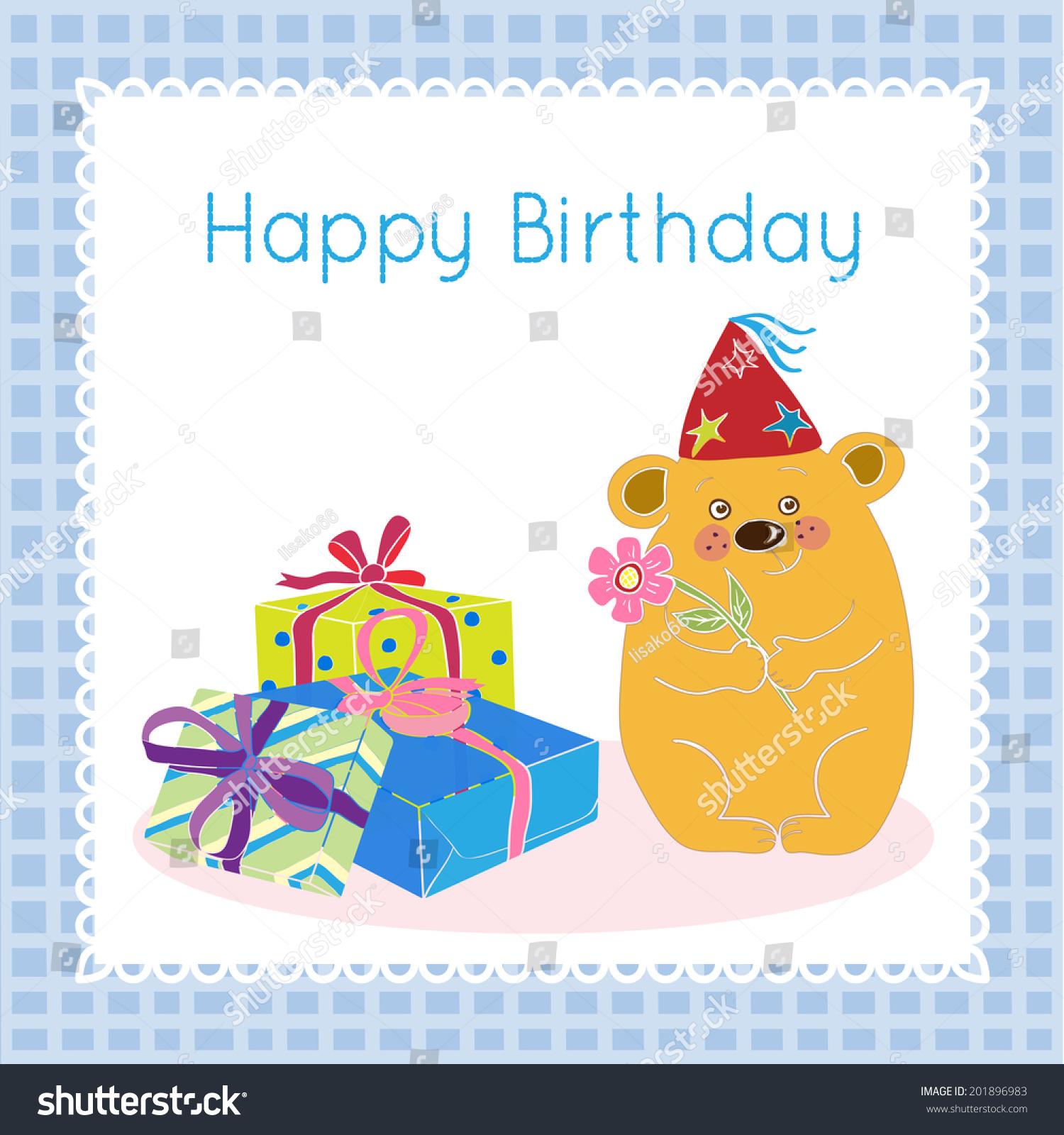 Happy birthday greetings kids stock vector 201896983 shutterstock kristyandbryce Gallery