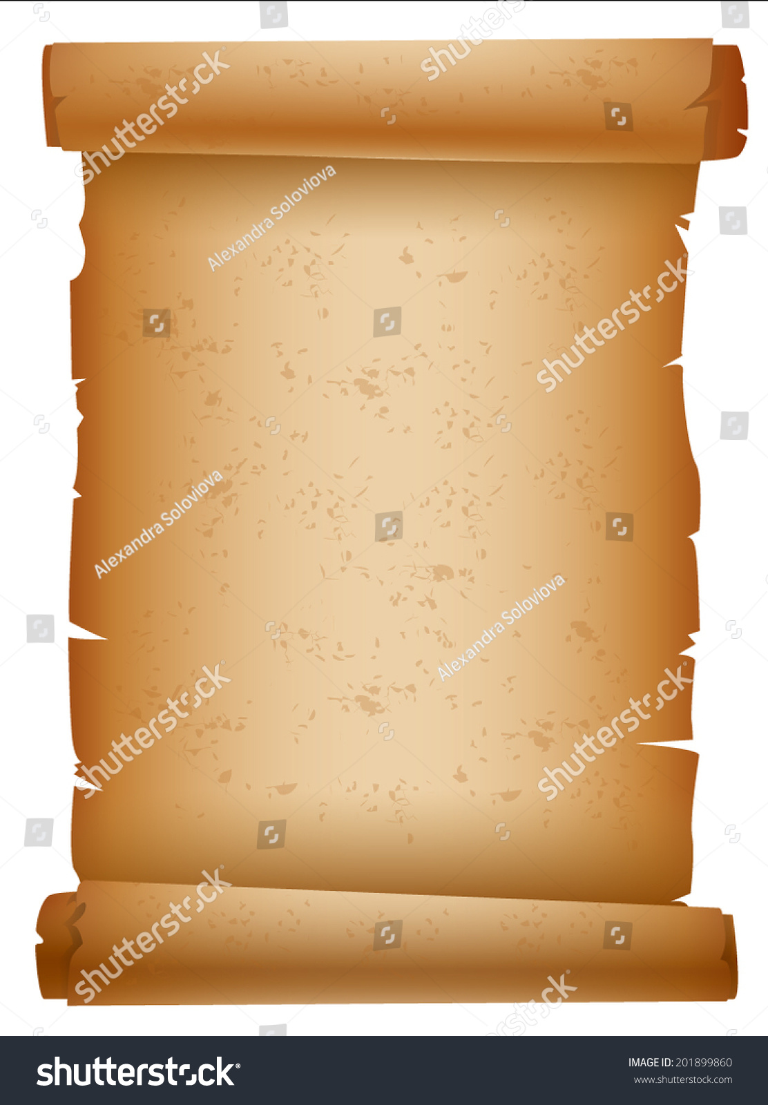 vector parchment scroll paper stock vector 201899860 shutterstock