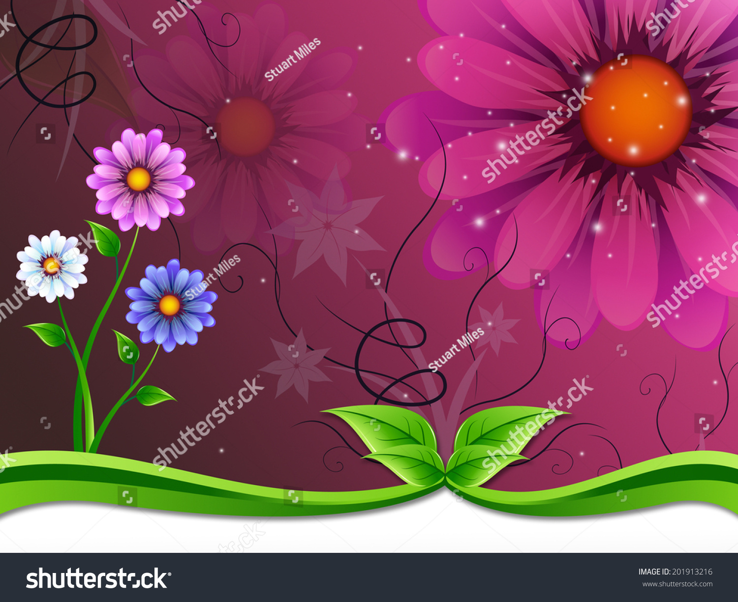 Flowers Background Meaning Flowering Outside Beauty Stock