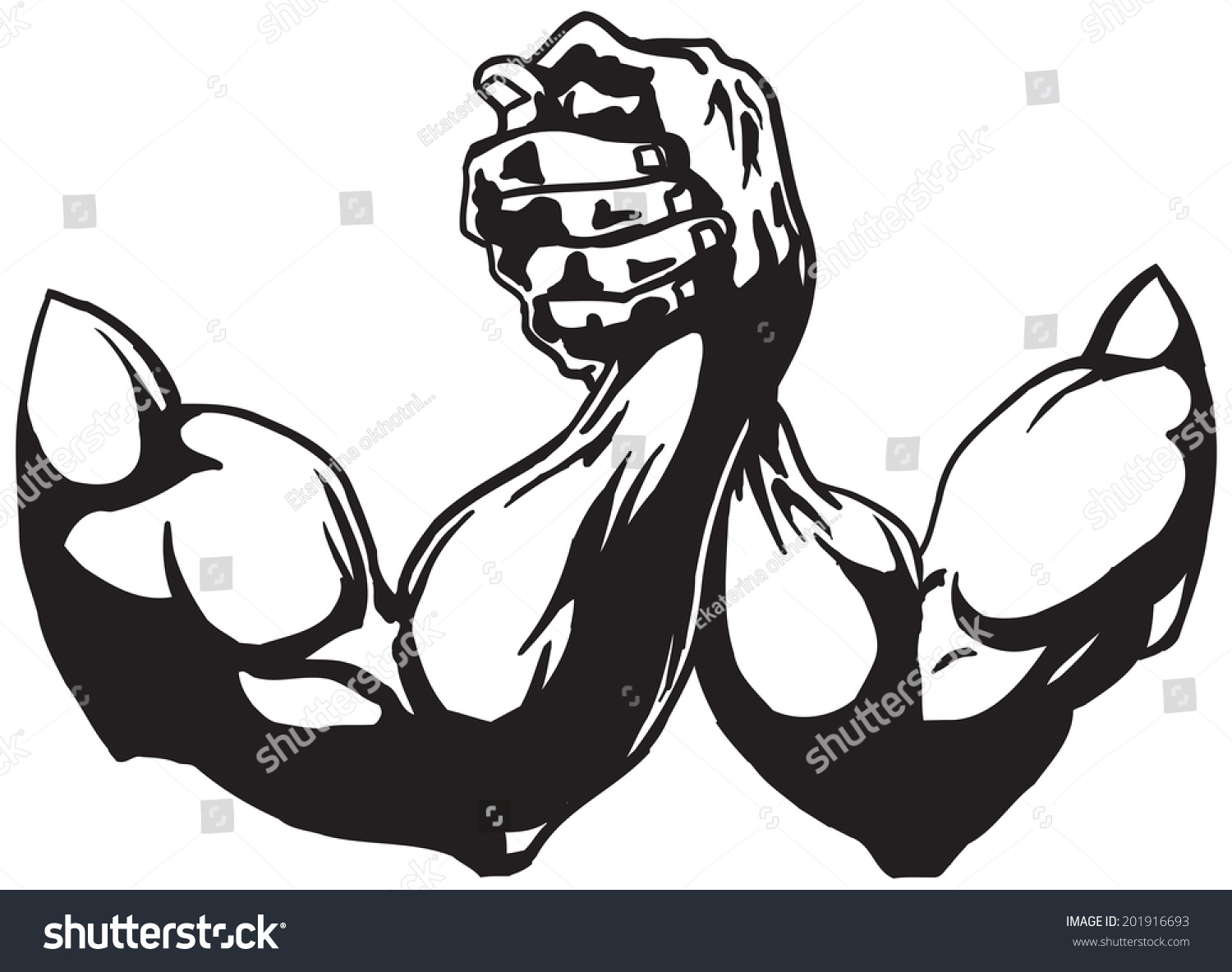 arm wrestling stock vector 201916693 shutterstock