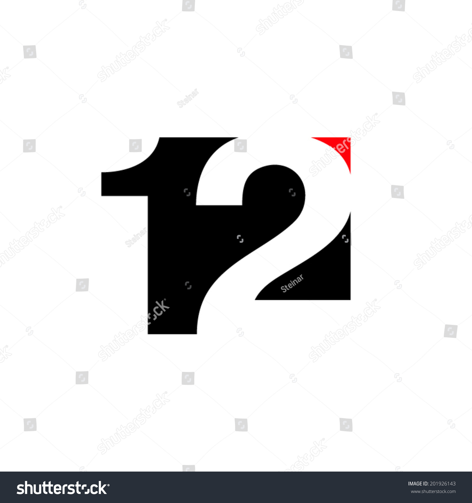 Number 12 Abstract Sign Branding Identity Stock Vector ...
