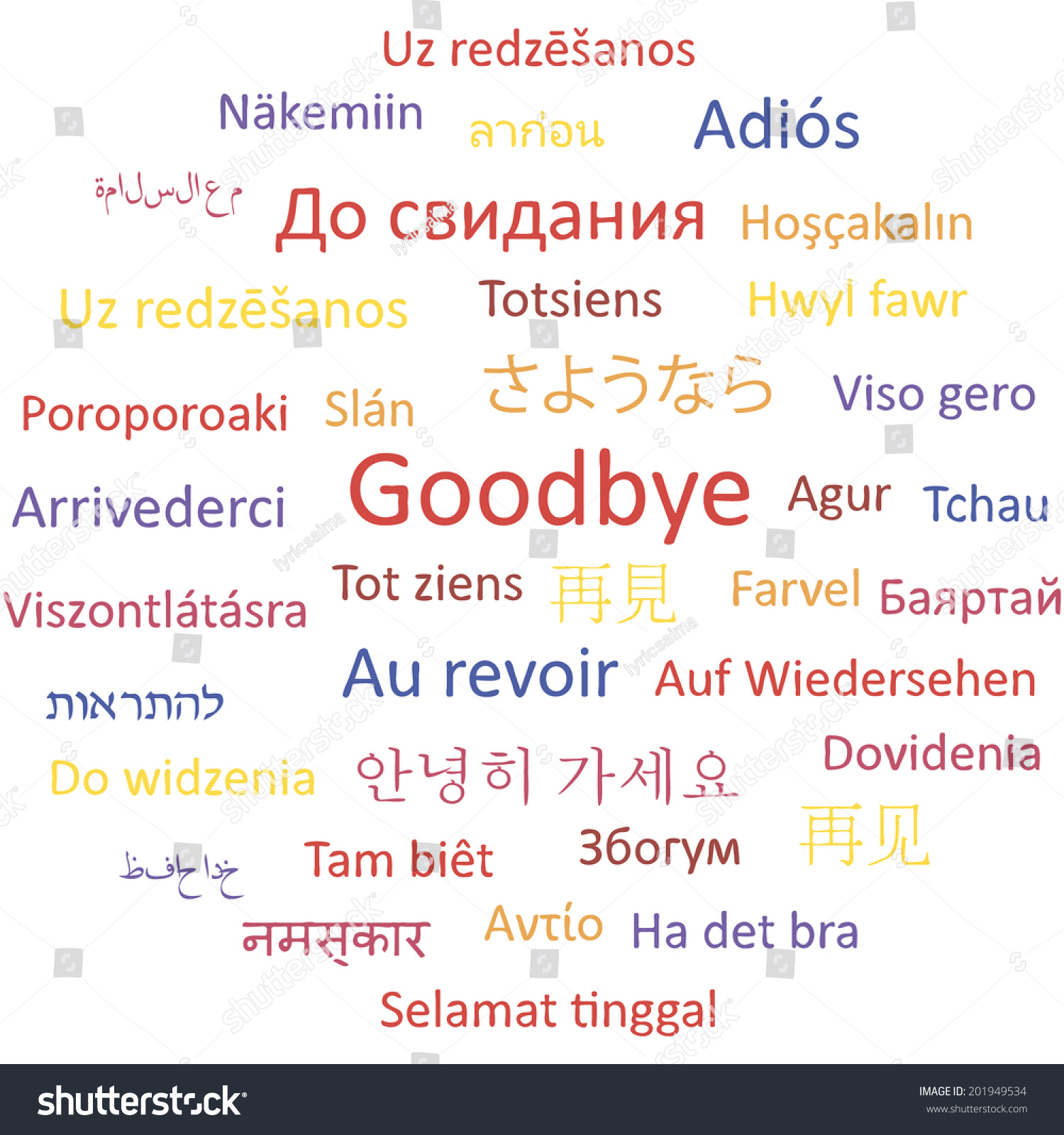 how to say hello and goodbye in every language