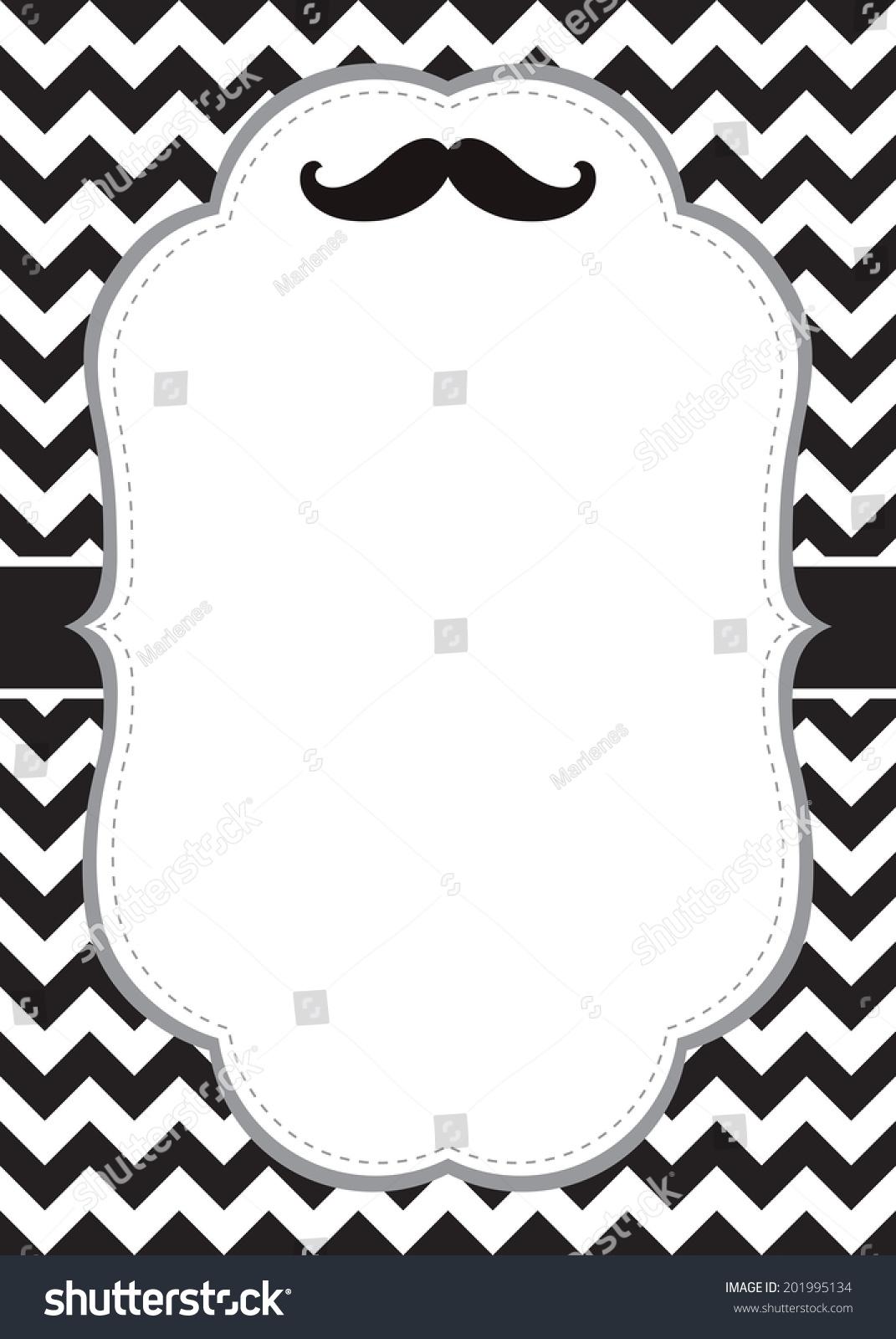 mustache card template stock vector 201995134 shutterstock