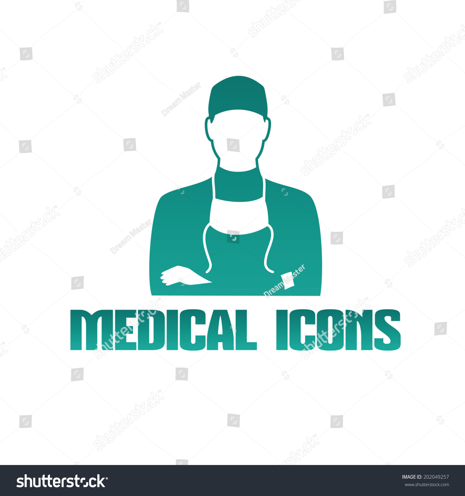 Vector Flat Medical Icon Logo Male Stock Vector Royalty Free 202049257