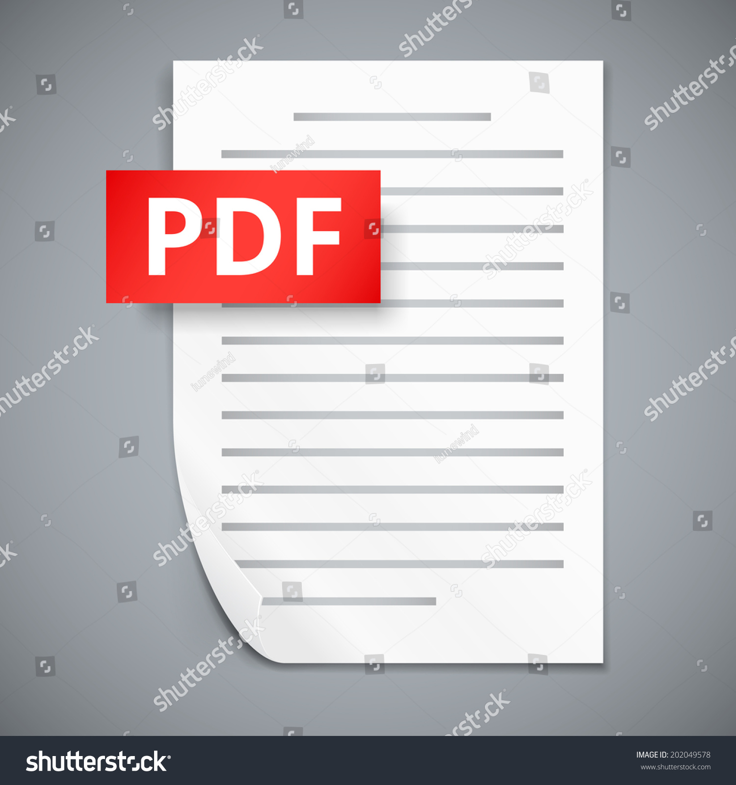 Pdf Icons Stack Paper Sheets Vector Stock Vector (Royalty Free