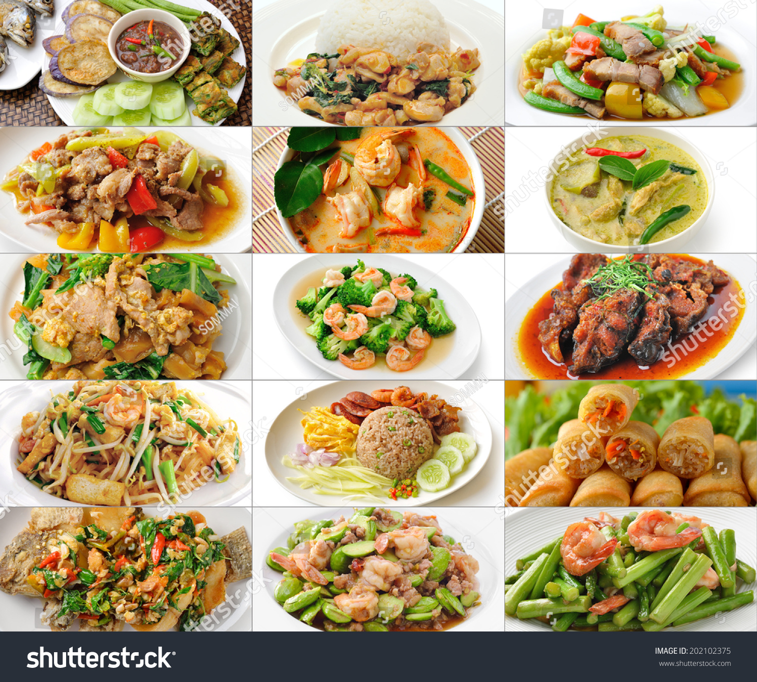 Thai food collage stock photo 202102375 shutterstock for About thai cuisine