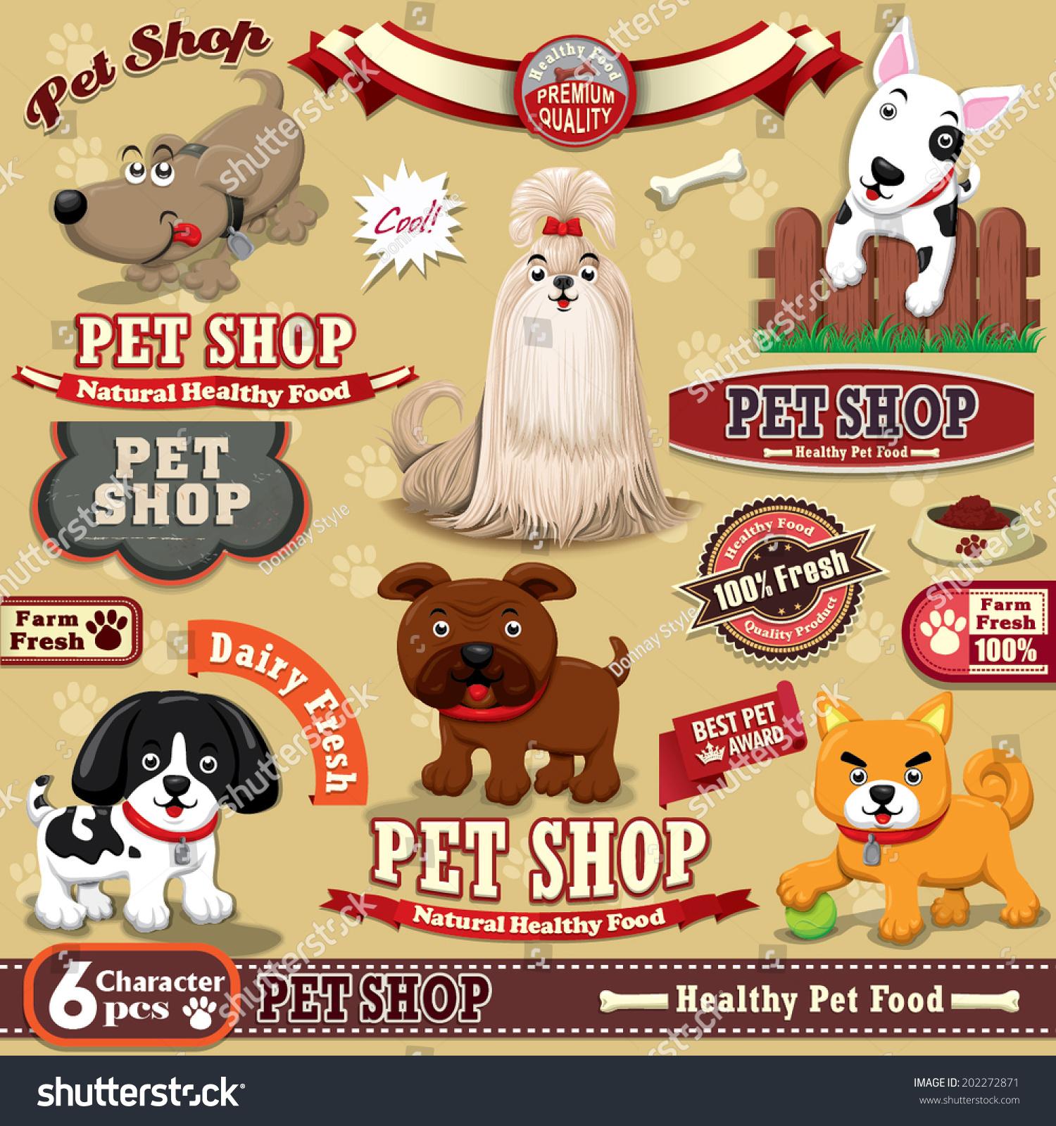 Vintage Pet Shop Poster Design Element Vector 202272871 – Pet Poster