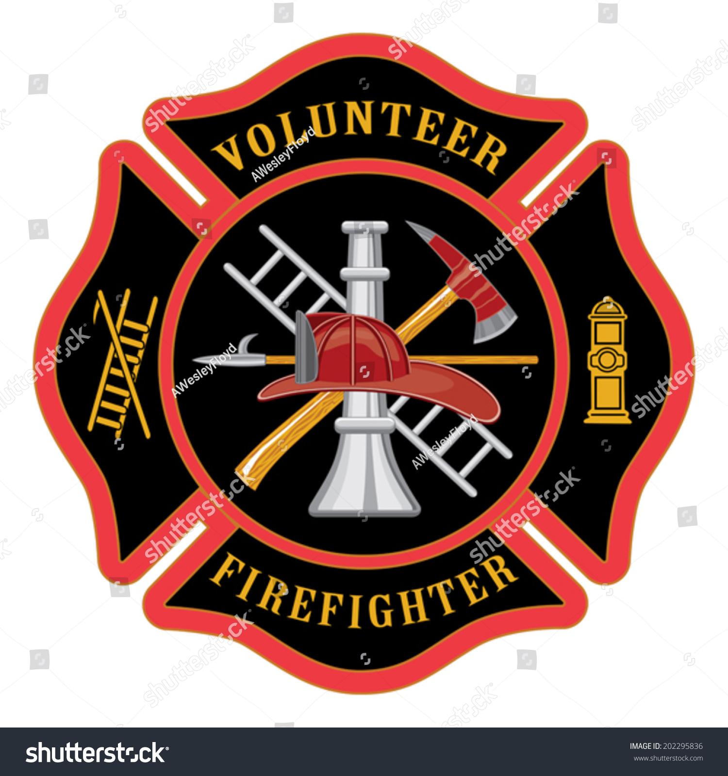 Volunteer firefighter maltese cross illustration firefighter stock volunteer firefighter maltese cross is an illustration of the firefighter or fire department maltese cross symbol biocorpaavc