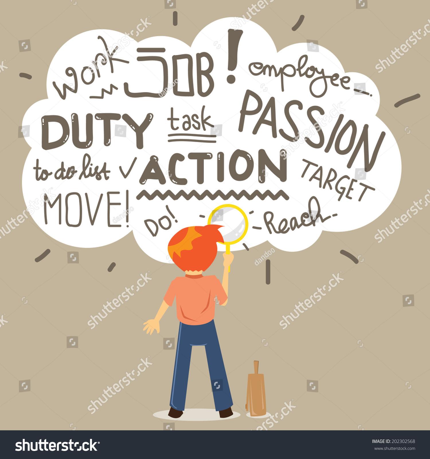 man employee seek job passion stock vector shutterstock man employee seek a job and passion