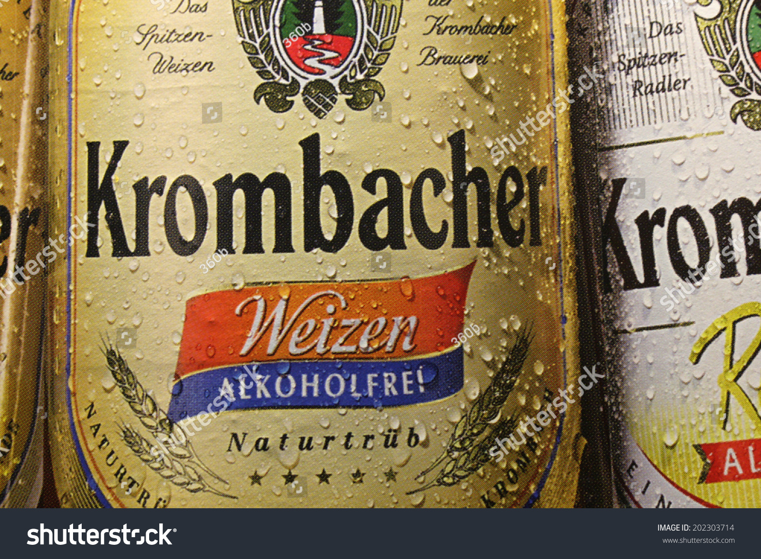 circa may 2014 berlin the logo of the brand quotkrombacher