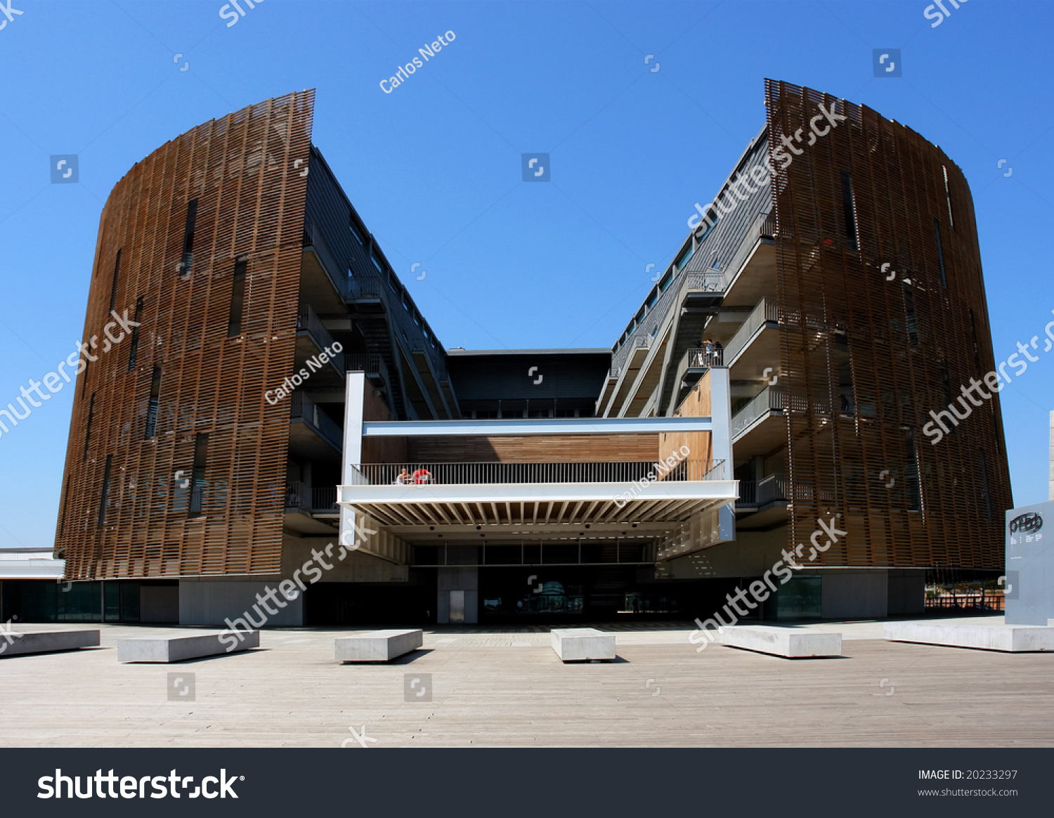 Modern Architecture Barcelona Olympic Port Spain Stock Photo