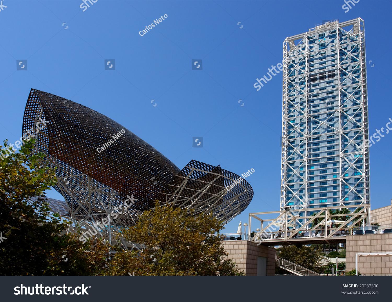 Modern Architecture Barcelona modern architecture barcelona olympic port spain stock photo