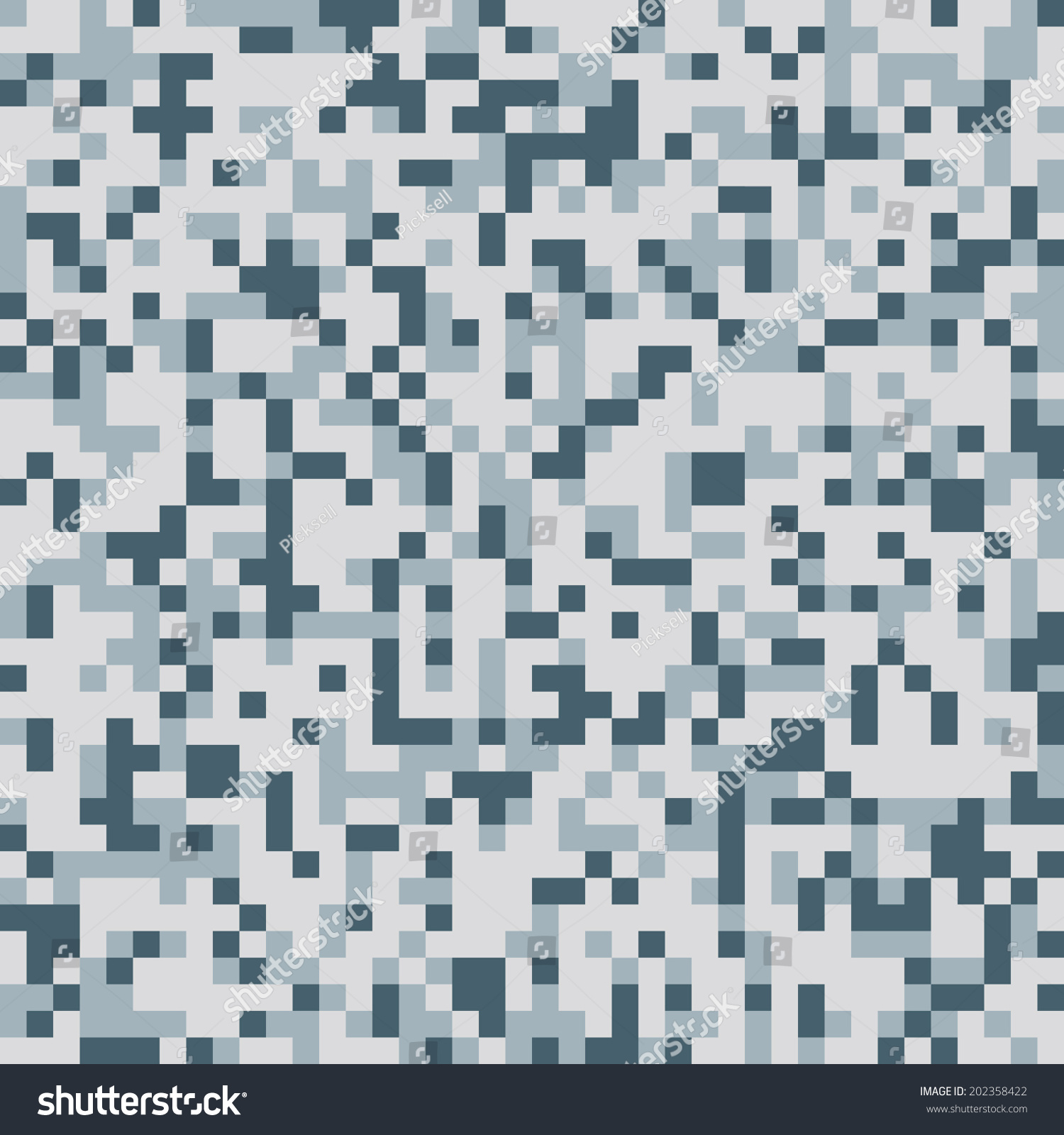 Urban Pixel Camo Texture Vector Stock Vector 202358422